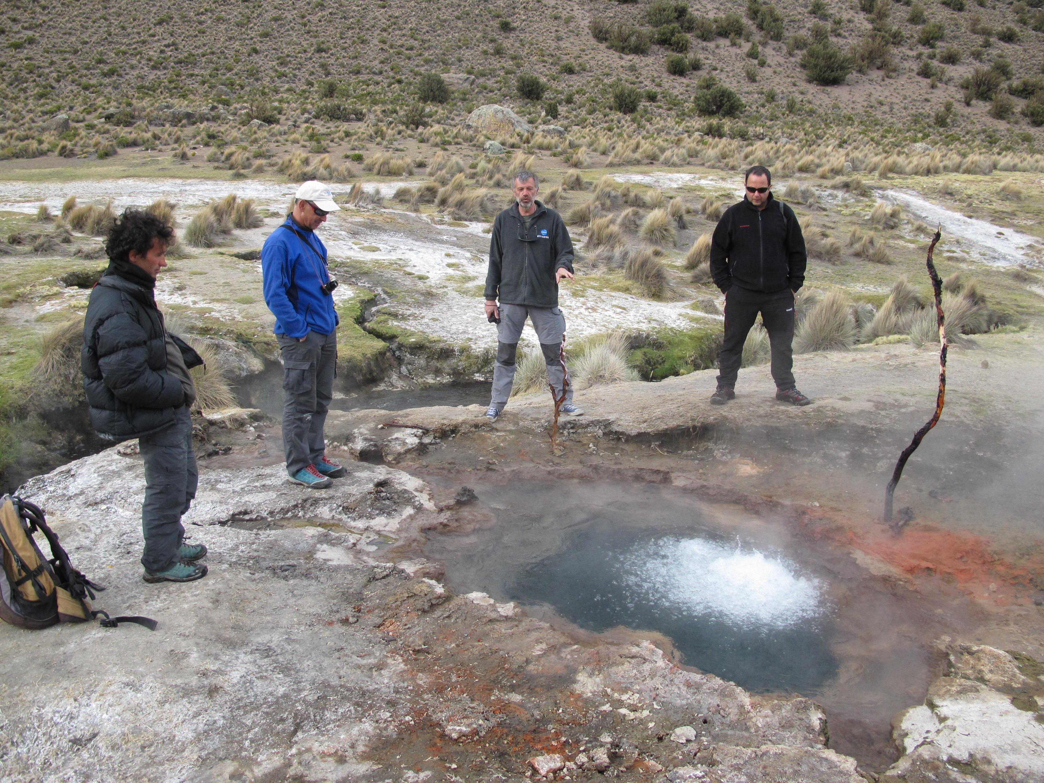 На горячих источниках Сахама, Боливия