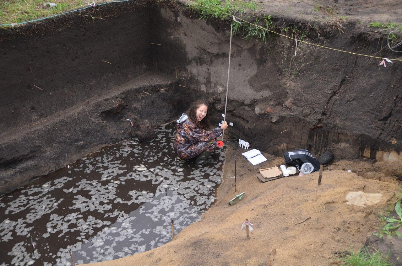 На раскопках в Старой Руссе