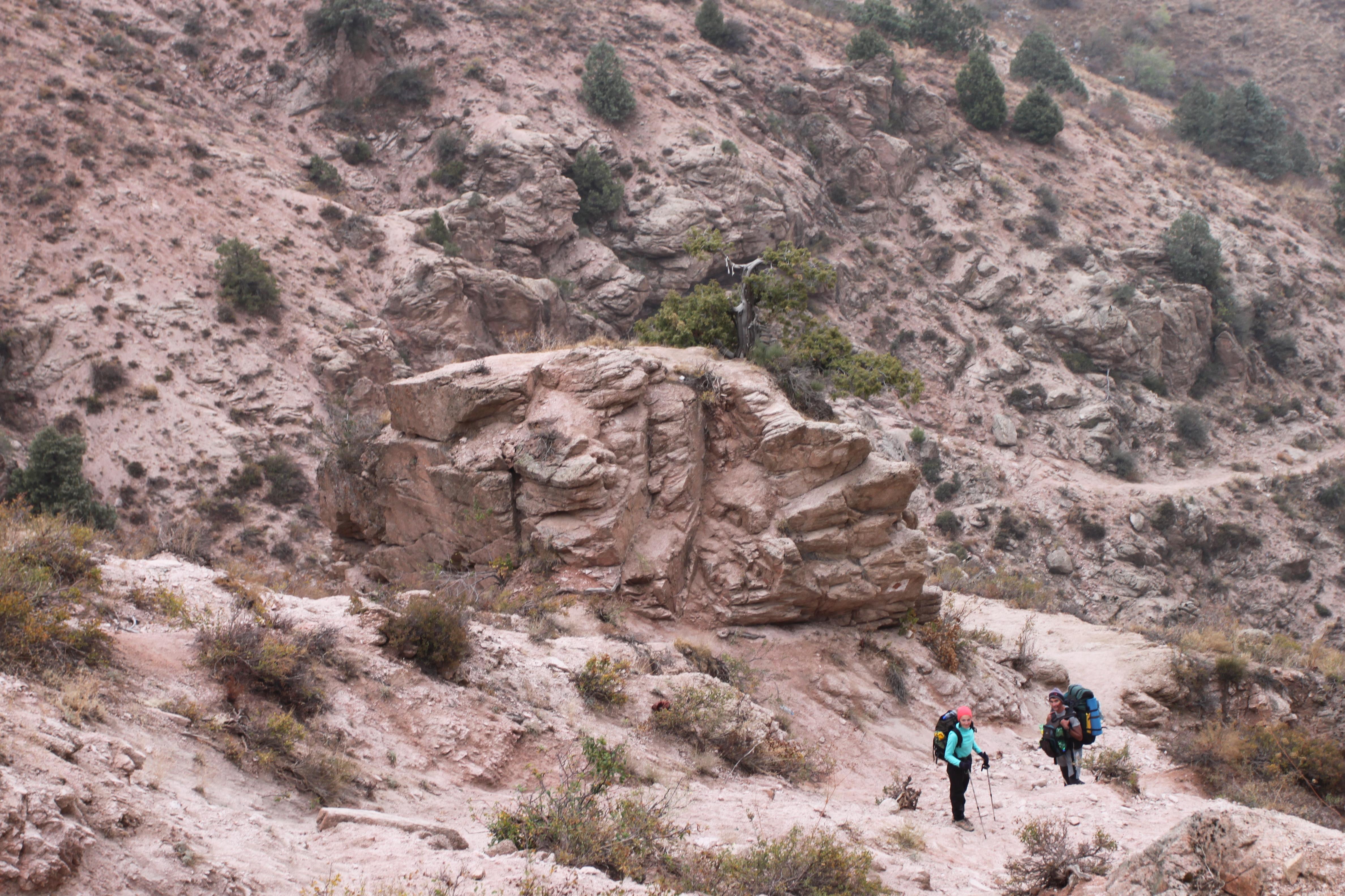 Полевые геоморфологические работы в Западном Тянь-Шане, Узбекистан